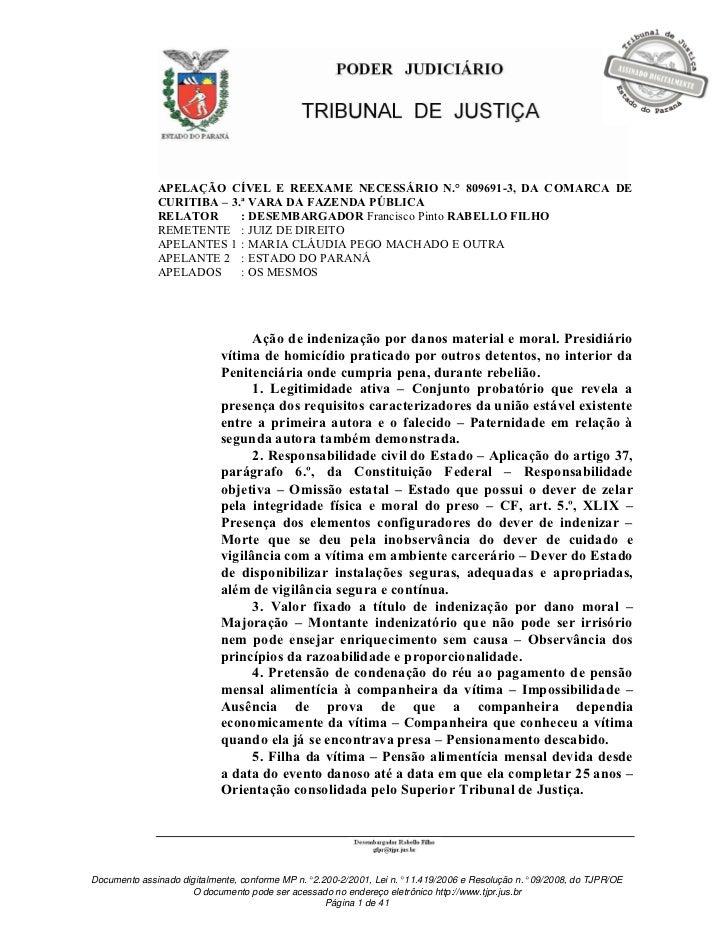 APELAÇÃO CÍVEL E REEXAME NECESSÁRIO N.° 809691-3, DA COMARCA DE              CURITIBA – 3.ª VARA DA FAZENDA PÚBLICA       ...