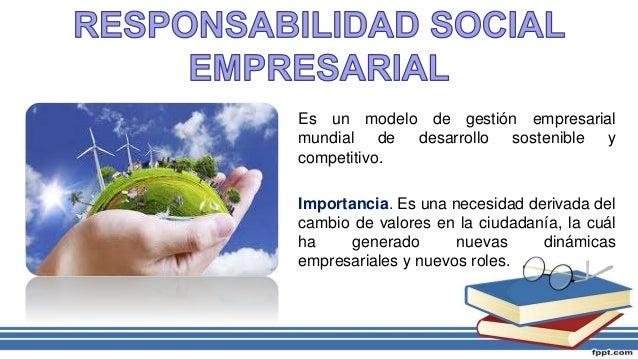 Es un modelo de gestión empresarial mundial de desarrollo sostenible y competitivo. Importancia. Es una necesidad derivada...