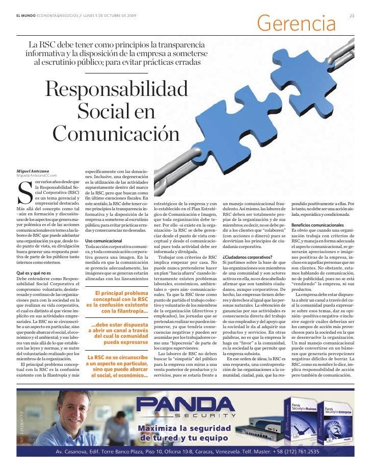 EL MUNDO ECONOMÍA&NEGOCIOS / LUNES 5 DE OCTUBRE DE 2009                             /                                     ...