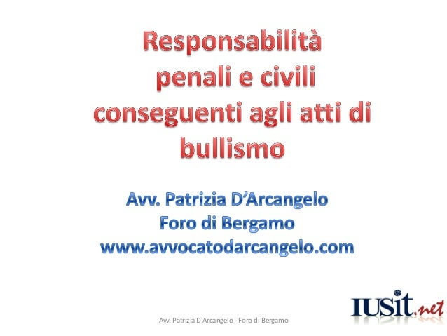 Avv. Patrizia DArcangelo - Foro di Bergamo