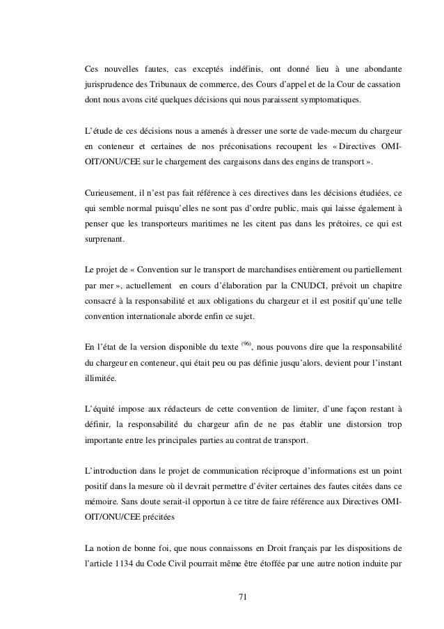 Responsabilité et obligations du chargeur en conteneurs