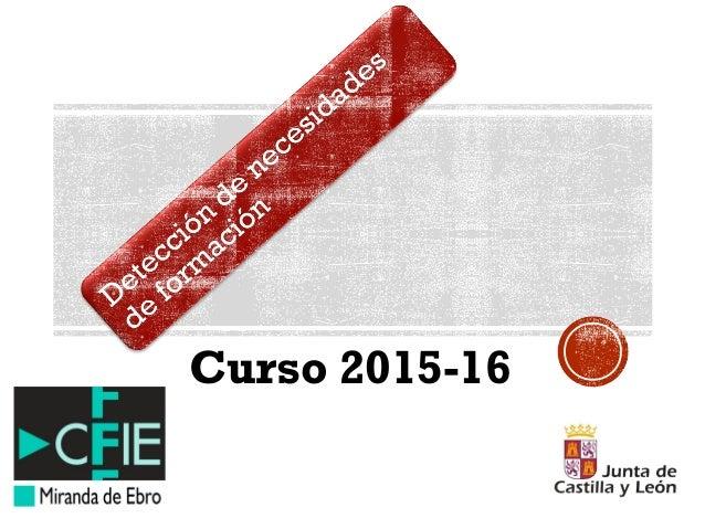 Curso 2015-16