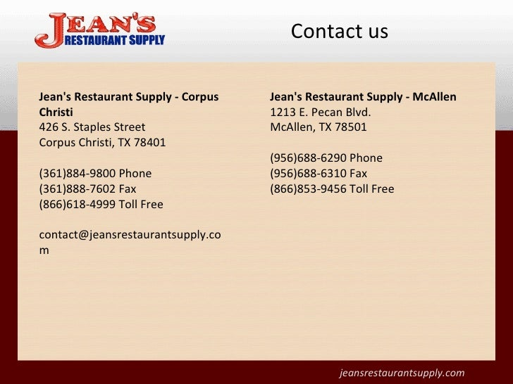 Jean S Restaurant Supply New Used Restaurant Supplies