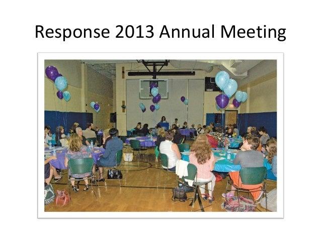 Response 2013 Annual Meeting