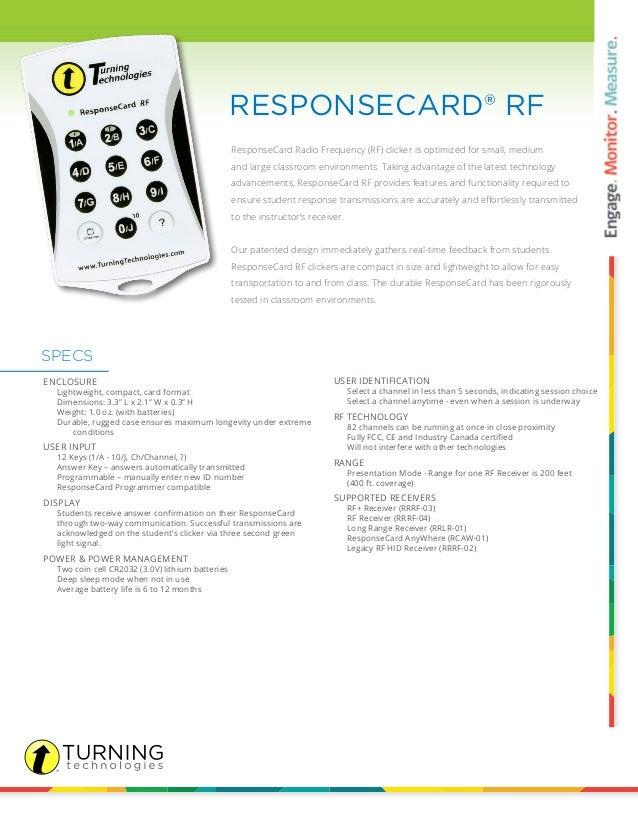 Response Card Rf