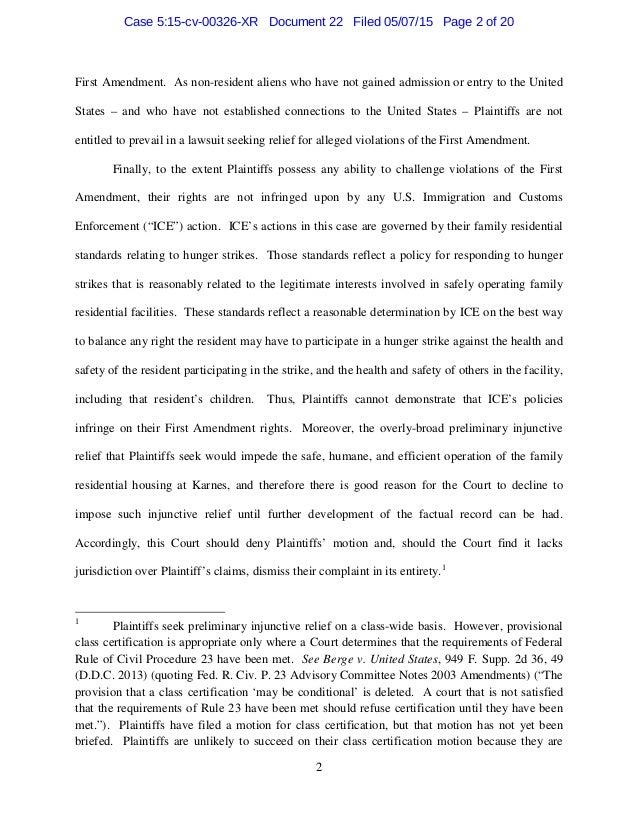 Response in motion to oppose  Slide 2