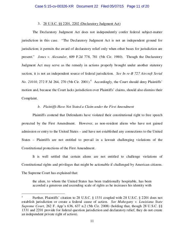 Response in motion to oppose