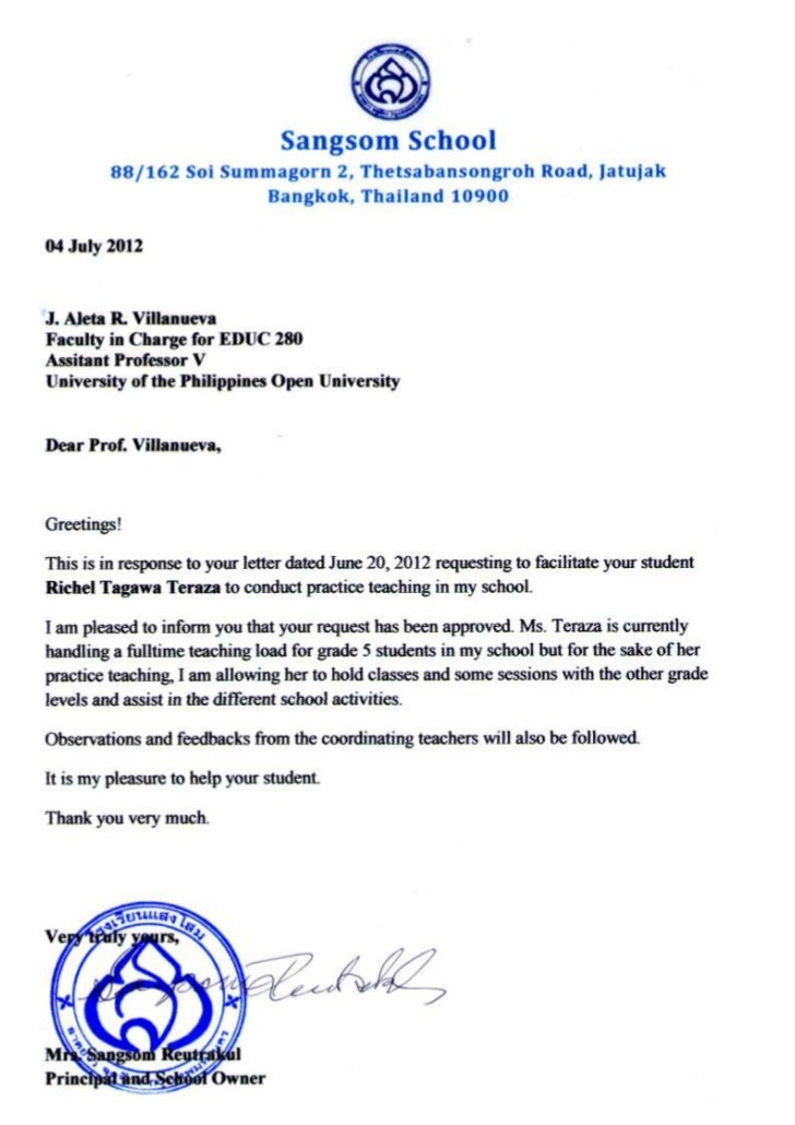 Sample Cover Letter For Practicum Response Letter Re Practicumjpg