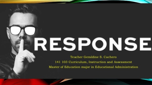Responses To Issues And Concerns In Curriculum