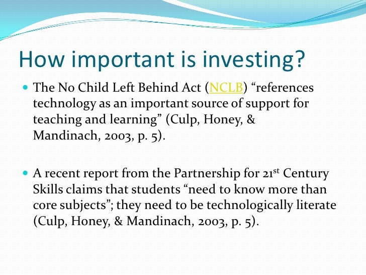 Why the no child left behind act should be changed