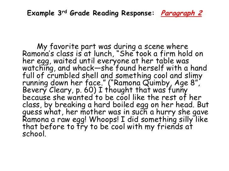 Teaching Response to Literature 3rd grade