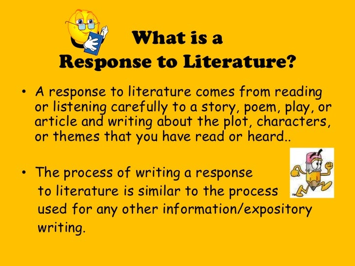 What is a response to literature essay