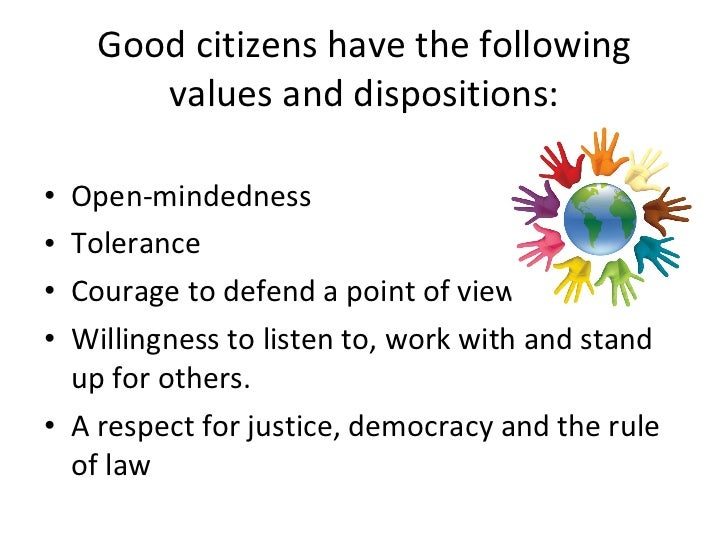 law and good citizen The importance of good governance to democracy politics essay  rule of law another criterion of good governance  as well as citizen participation.