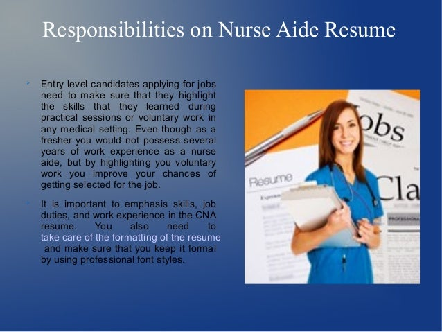 Resume-Now: Free Resume Builder nurses aide job description resume ...