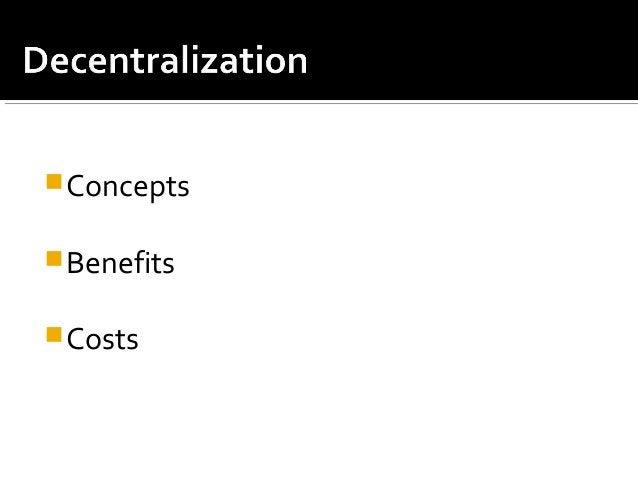 Concepts Benefits Costs
