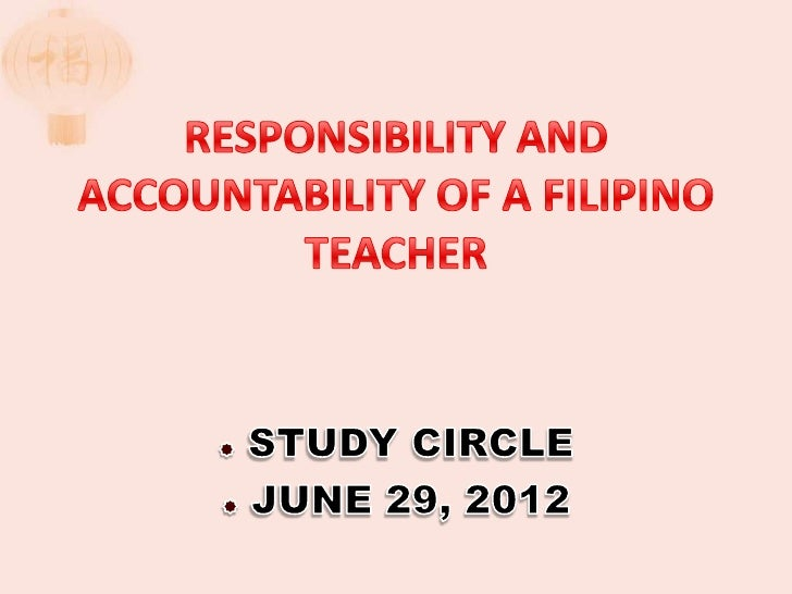    1. Underscore the roles of a Filipino teacher.               To emphasize or stress.   2. Internalize the duties, re...