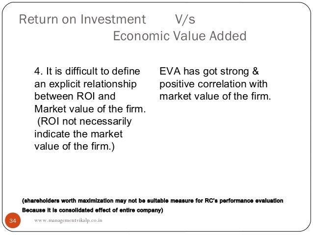 Return on Investment    V/s                    Economic Value Added         4. It is difficult to define                  ...