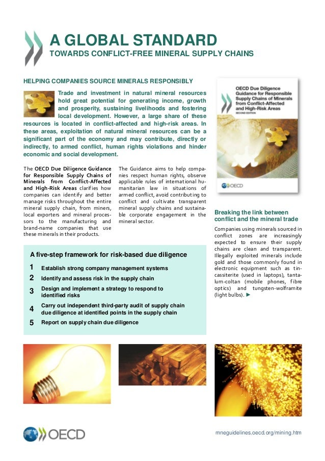 © OECD – 2012 mneguidelines.oecd.org/mining.htm The Guidance aims to help compa- nies respect human rights, observe applic...