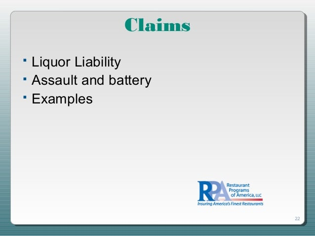 Responsible Alcohol Service Slides