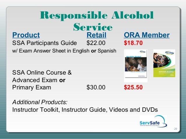 Responsible alcohol service slides