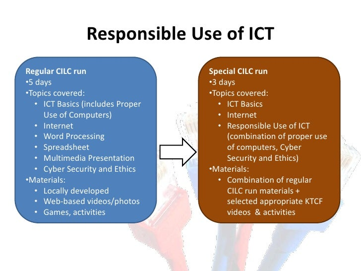 Responsible Use Of Ict Brief Project Report Feb 2011