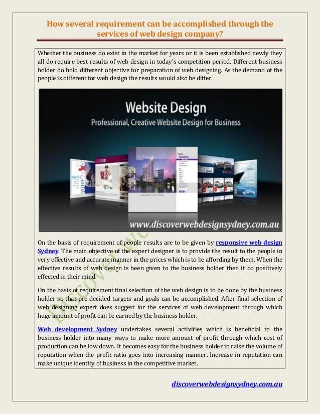 Responsible Web Designers Sydney