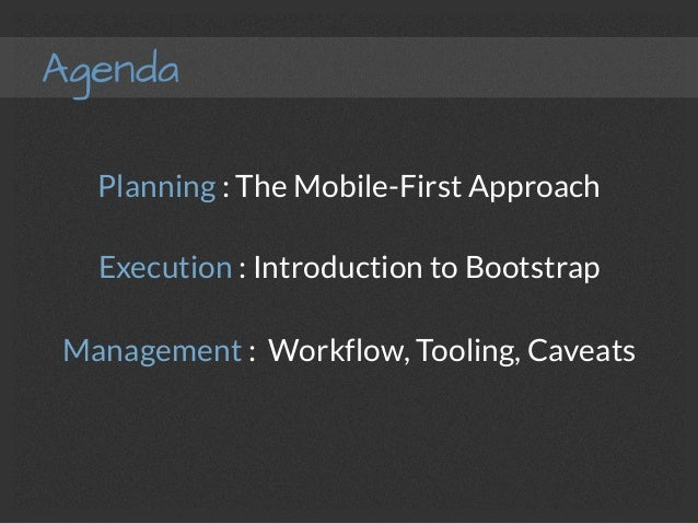 Responsive Design - Planning, Execution, Management with Bootstrap 3 Slide 3
