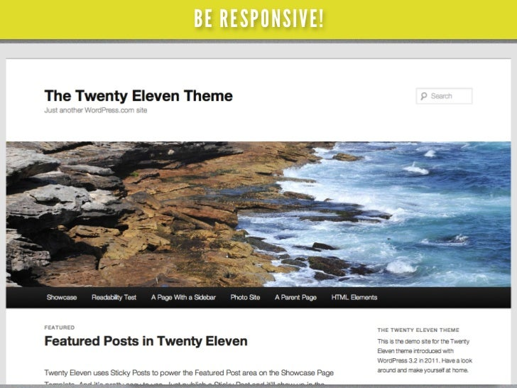 BE RESPONSIVE!twentyelevendemo.wordpress.com