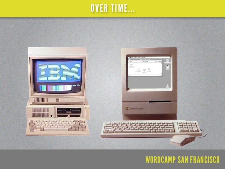 OVER TIME...               WORDCAMP SAN FRANCISCO