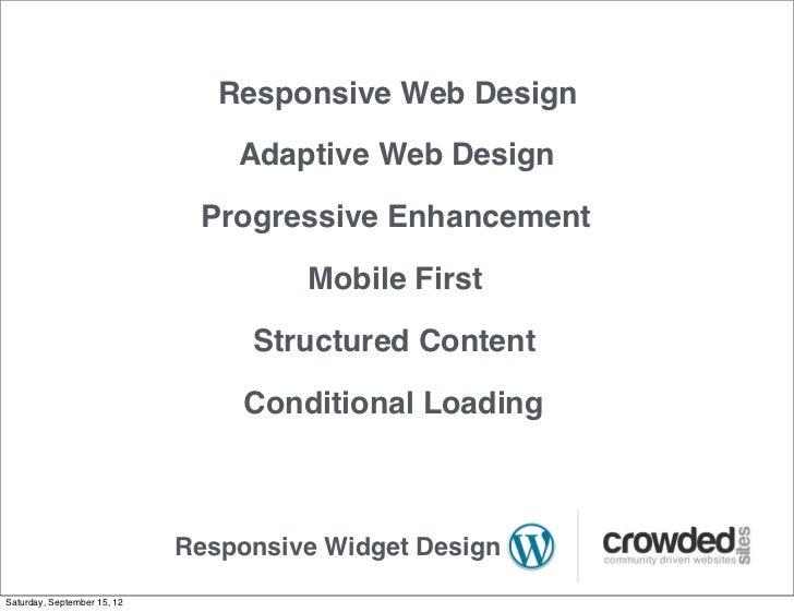 Progressive Enhancement Adaptive Web Design