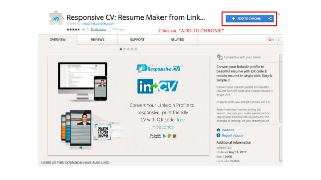 resume maker from linkedin