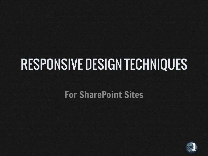 For SharePoint Sites