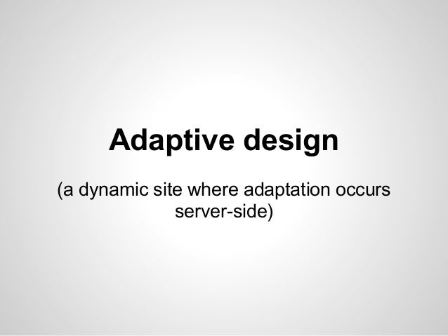 Why we chose responsivedesign