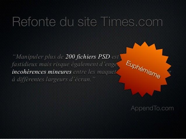 """Refonte du site Times.com """"Manipuler plus de 200 fichiers PSD est non seulement Eu des fastidieux mais risque également d'..."""