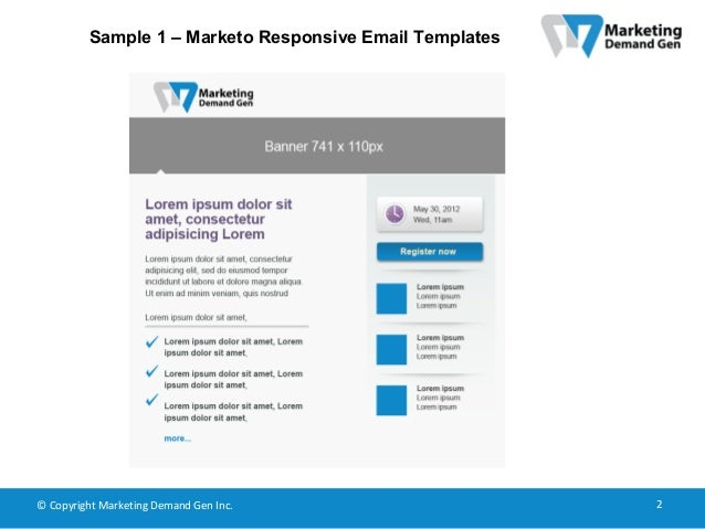 Marketo Responsive Email Templates - Marketo email templates