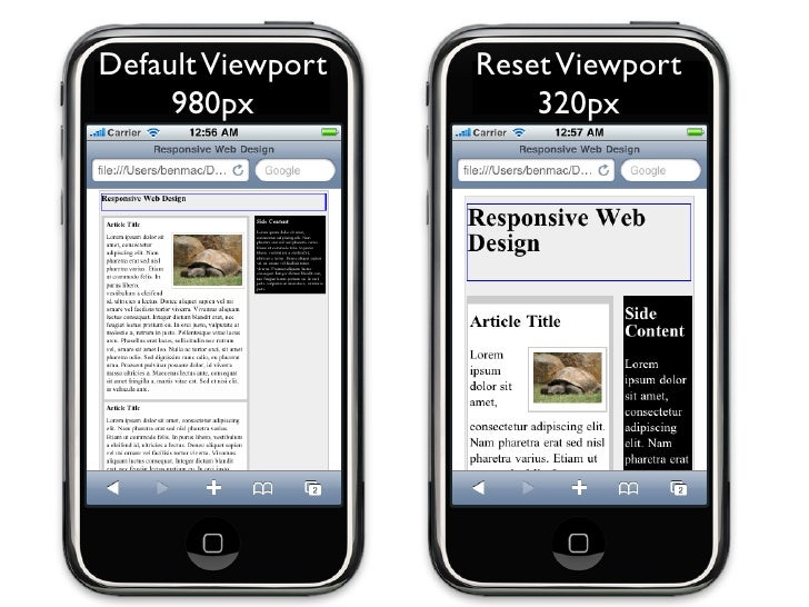 Layout Responds to Resizing   769px           768px