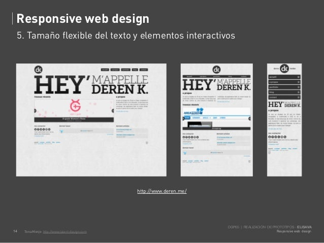 Responsive web design     5. Tamaño flexible del texto y elementos interactivos                                           ...