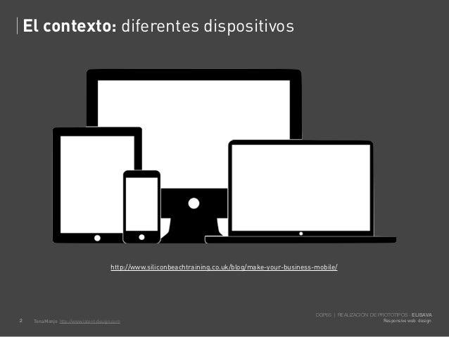 El contexto: diferentes dispositivos                                       http://www.siliconbeachtraining.co.uk/blog/make...