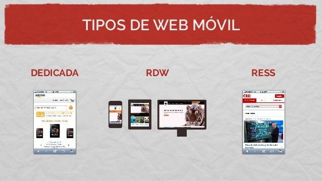 TIPOS DE WEB MÓVILDEDICADA RDW RESSMás rápidasMejor UX/UIMúltiples URL'sRedireccionesContenido duplicadoDiferente UX/UIURL...