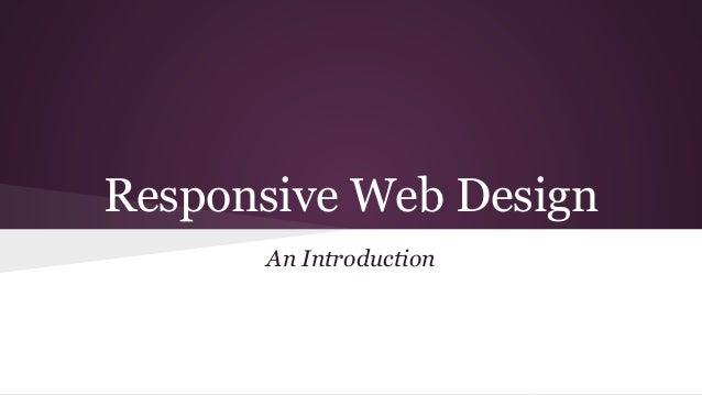 Responsive Web Design An Introduction