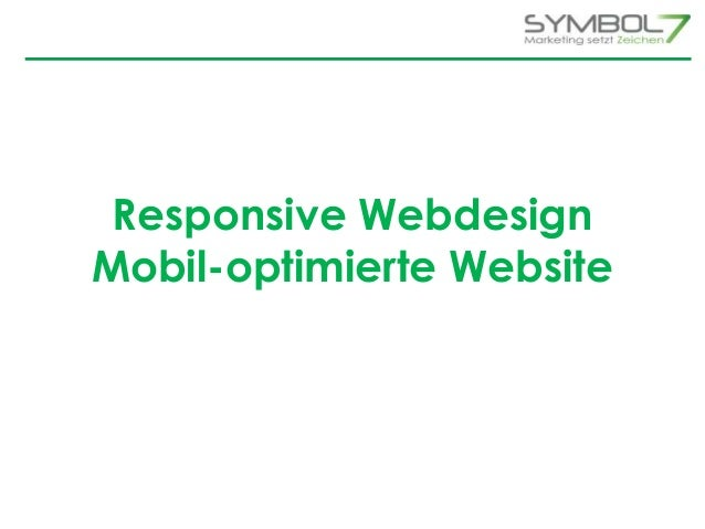 Responsive Webdesign  Mobil-optimierte Website