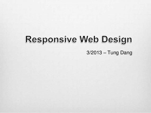 3/2013 – Tung Dang