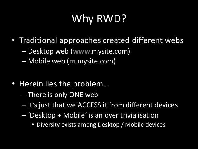 Responsive web design (rwd) Slide 2