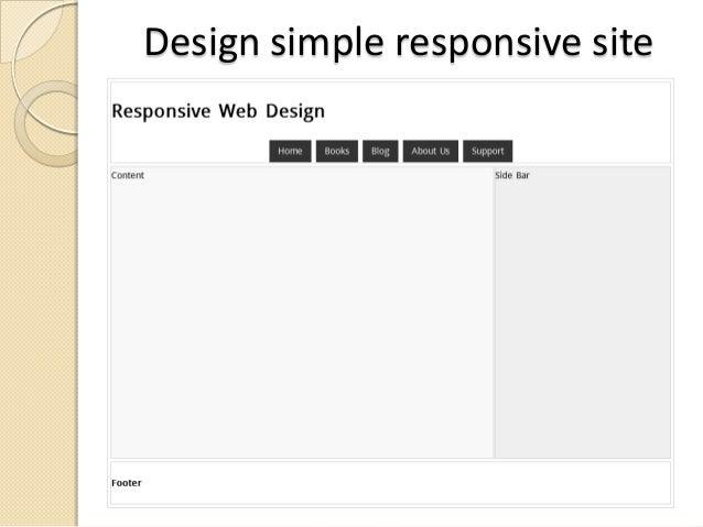 Design simple responsive site