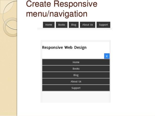 Create Responsive menu/navigation