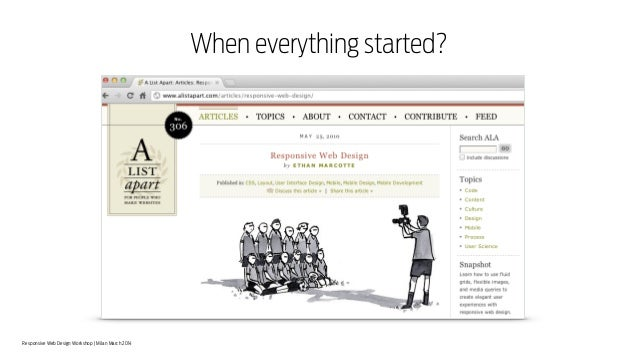 Responsive Web Design Workshop | Milan March 2014 When everything started?
