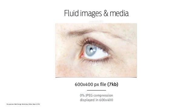 Responsive Web Design Workshop | Milan March 2014 Fluid images & media 600x400 px file (7kb) ! 0% JPEG compression display...