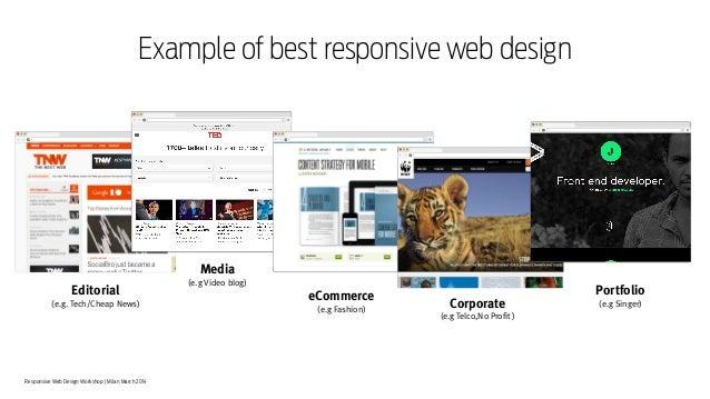 Responsive Web Design Workshop | Milan March 2014 Example of best responsive web design Editorial (e.g. Tech/Cheap News) e...