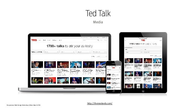 Responsive Web Design Workshop | Milan March 2014 Ted Talk Media http://thenextweb.com/