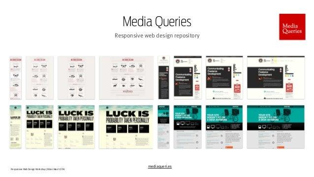 Responsive Web Design Workshop | Milan March 2014 Media Queries Responsive web design repository mediaqueri.es